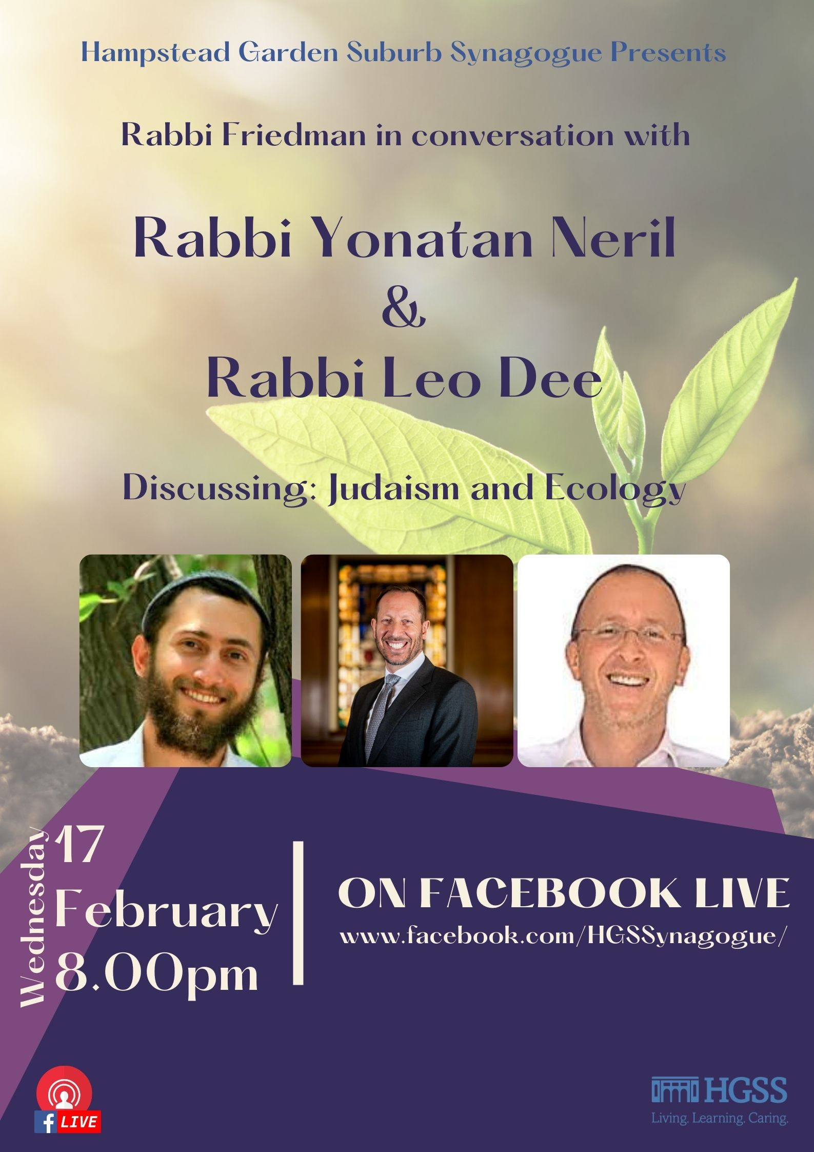 Judaism & Ecology @ Facebook Live