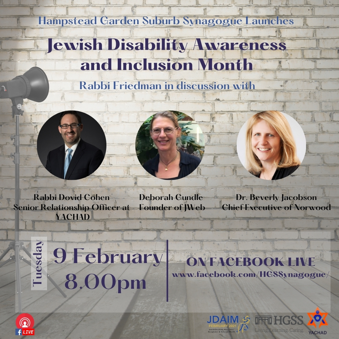 Jewish Disability Awareness and Inclusion Month @ Facebook Live