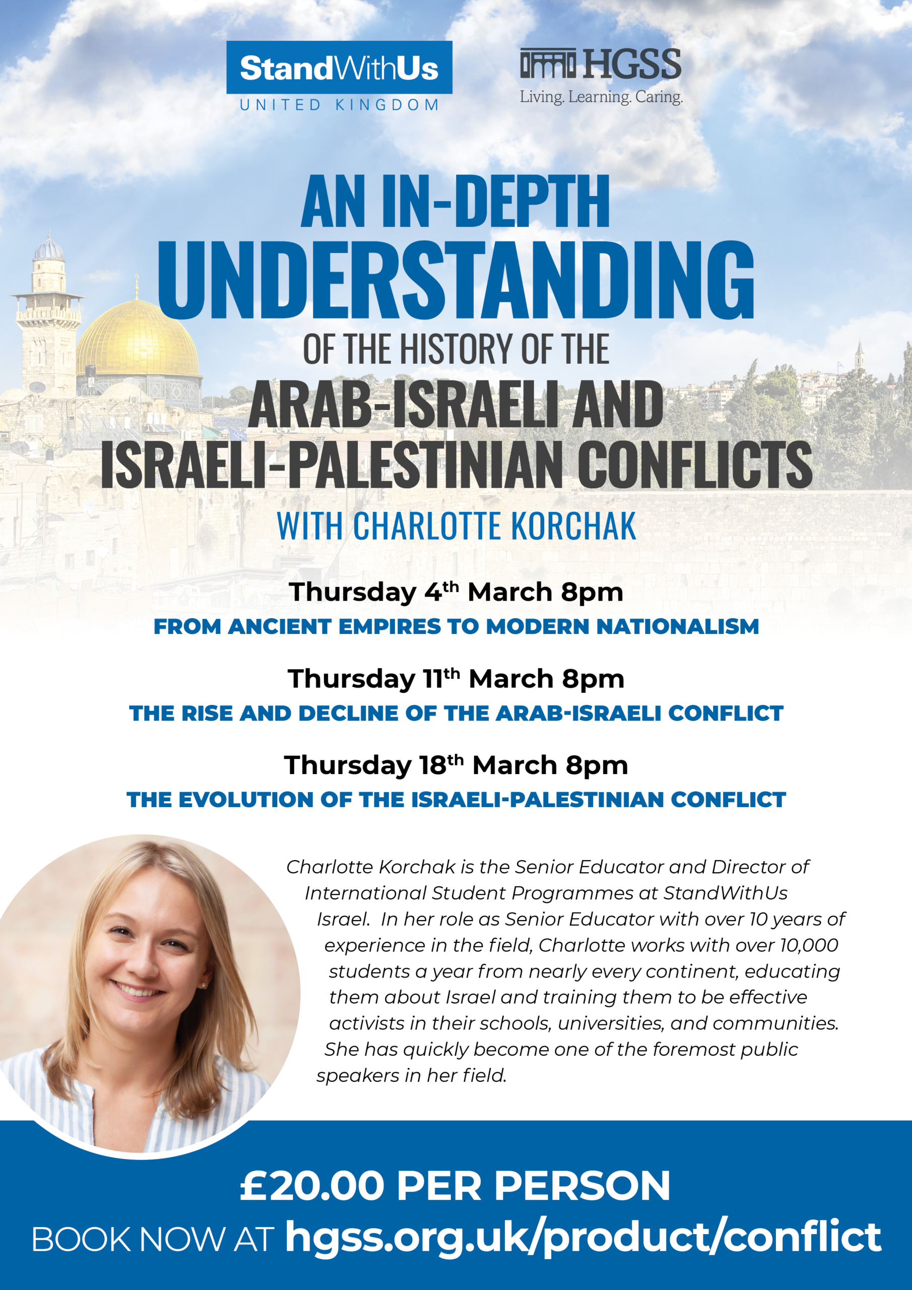 StandWithUs UK – History of the Arab-Israeli and Israeli-Palestinian Conflicts @ Zoom