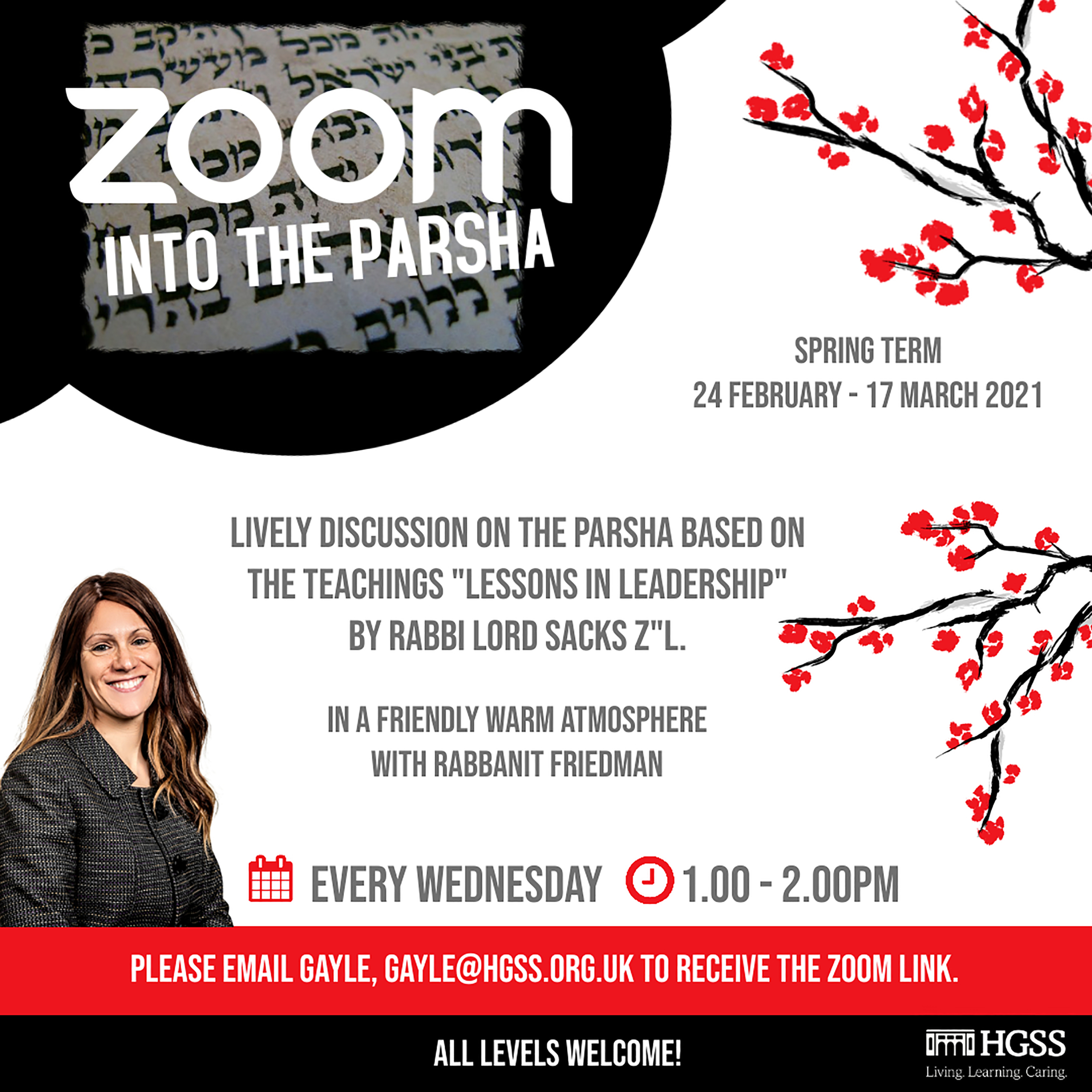 Zoom into the Parsha @ Online (Contact Gayle for link)