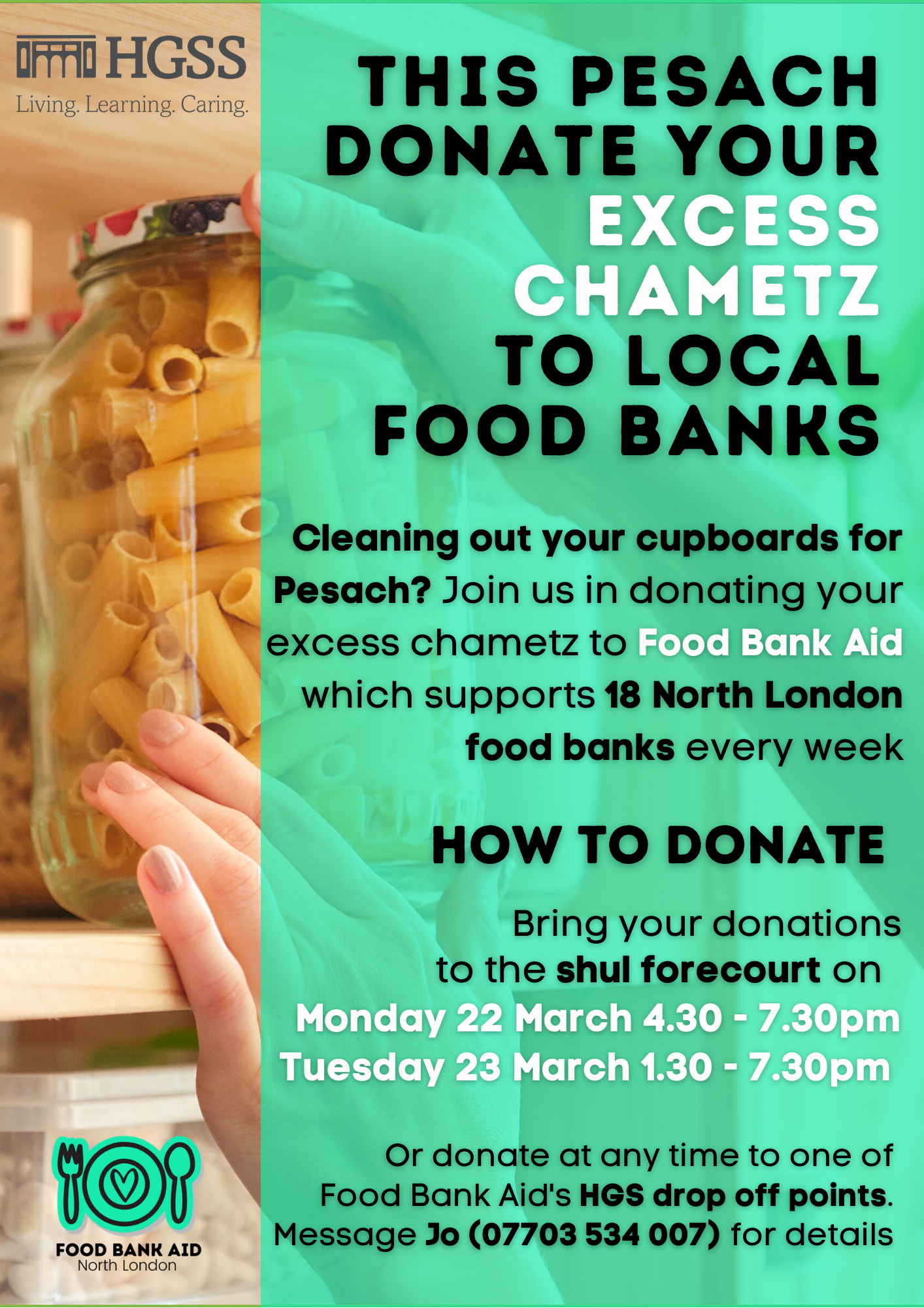 Food Bank Aid - Chametz @ HGSS