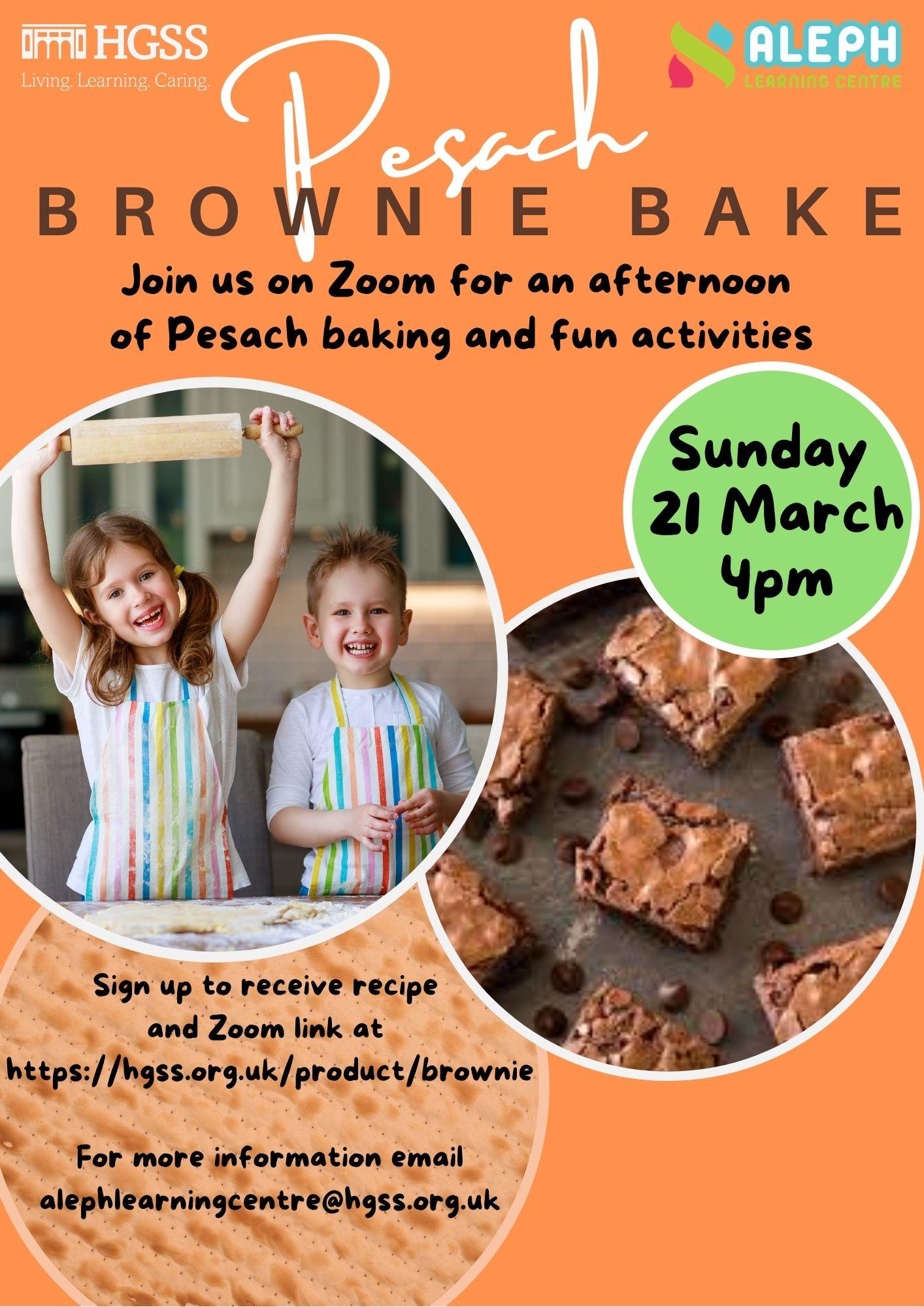 Pesach Brownie Bake @ Zoom