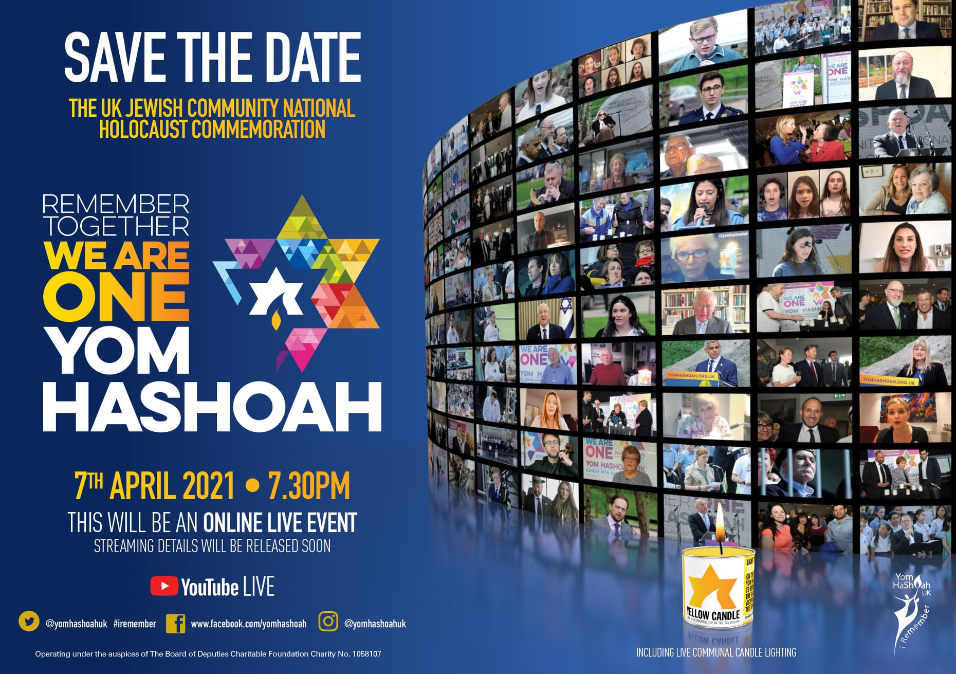 Yom Hashoah Ceremony @ Online