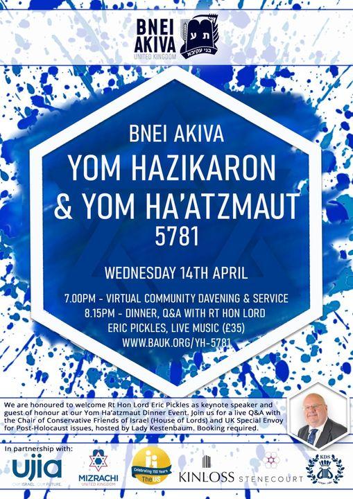Yom Hazikaron & Yom Ha'aztmaut @ Online