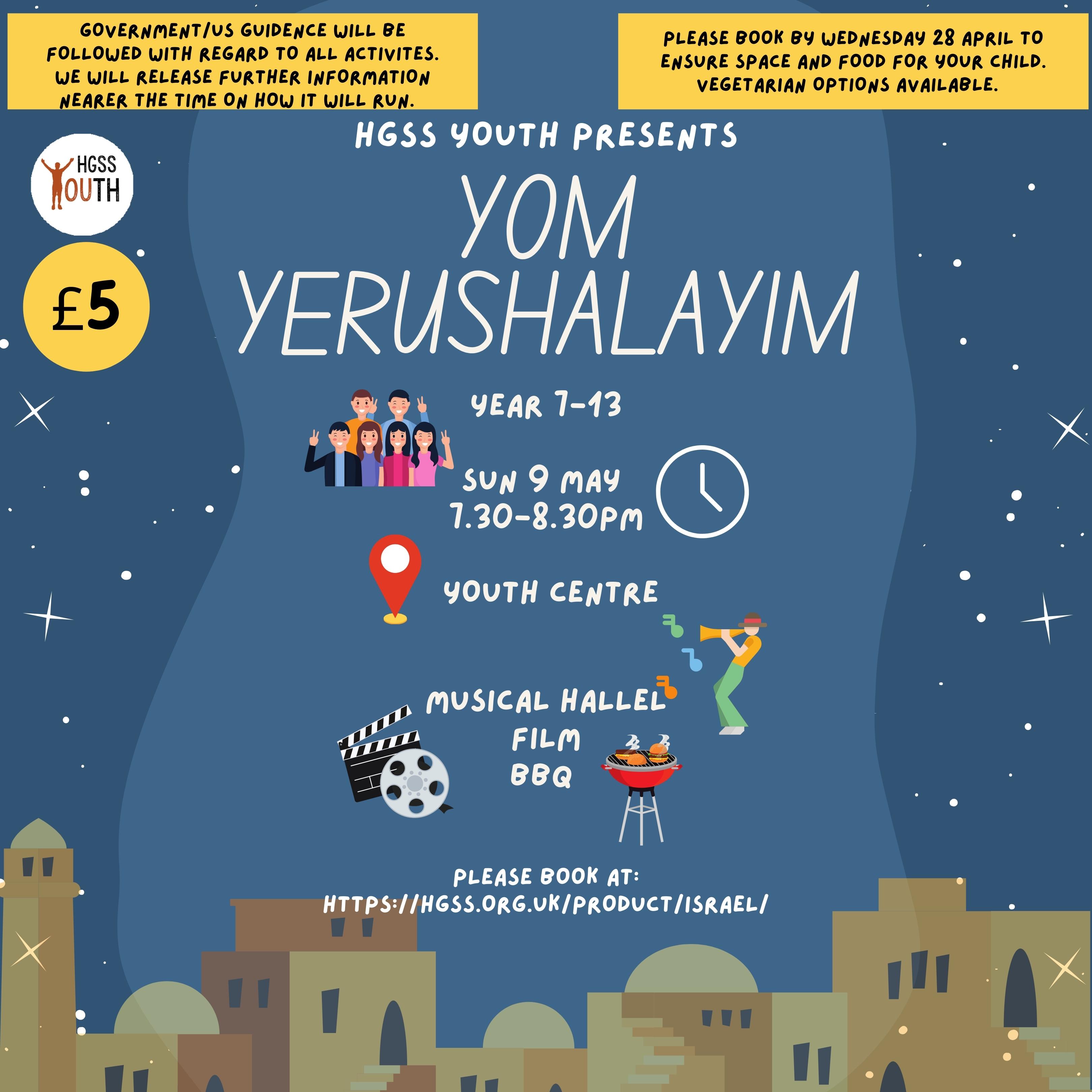 Youth Yom Yerushalayim @ HGSS