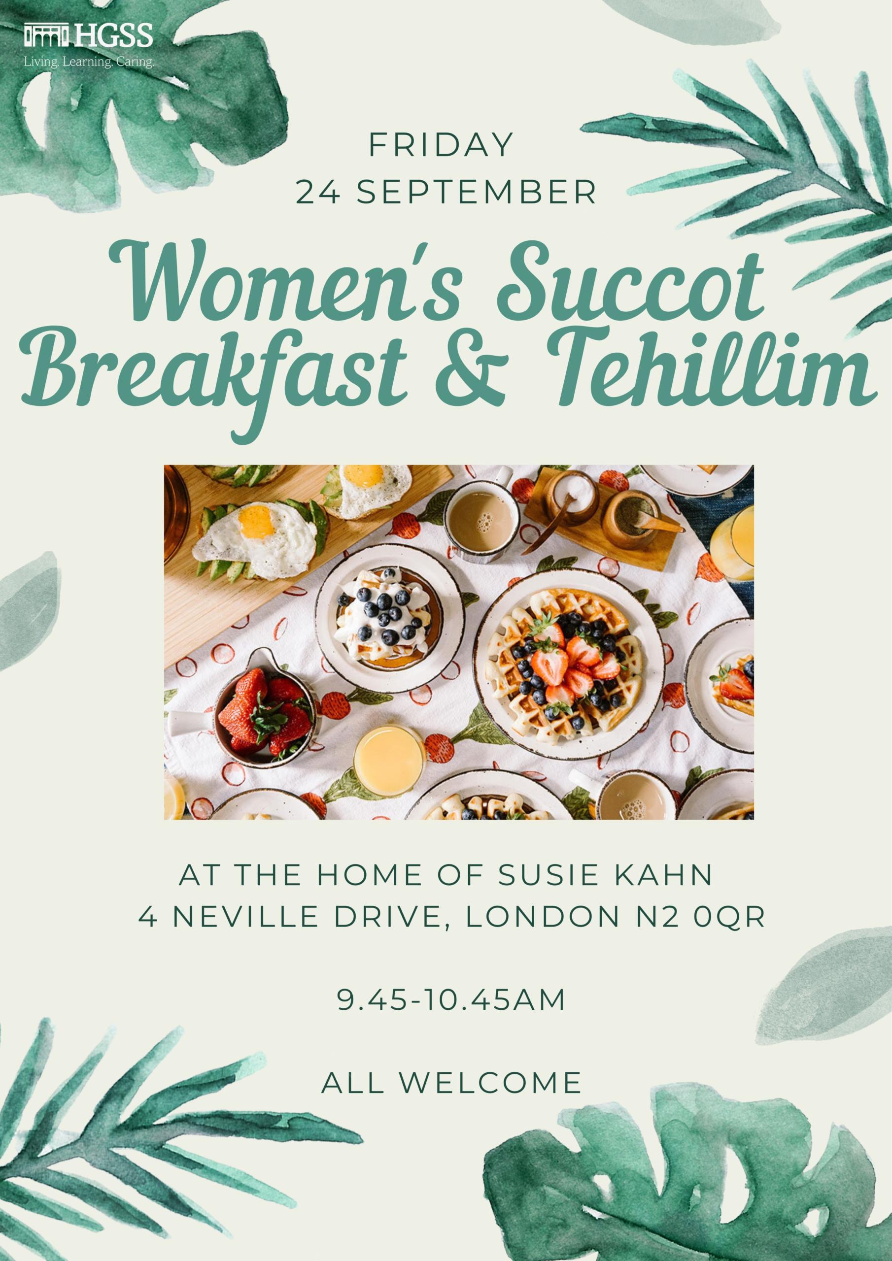 Succot Breakfast Tehillim