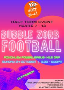 Bubble FootBall @ Finchley Powerleague- N12 0RF